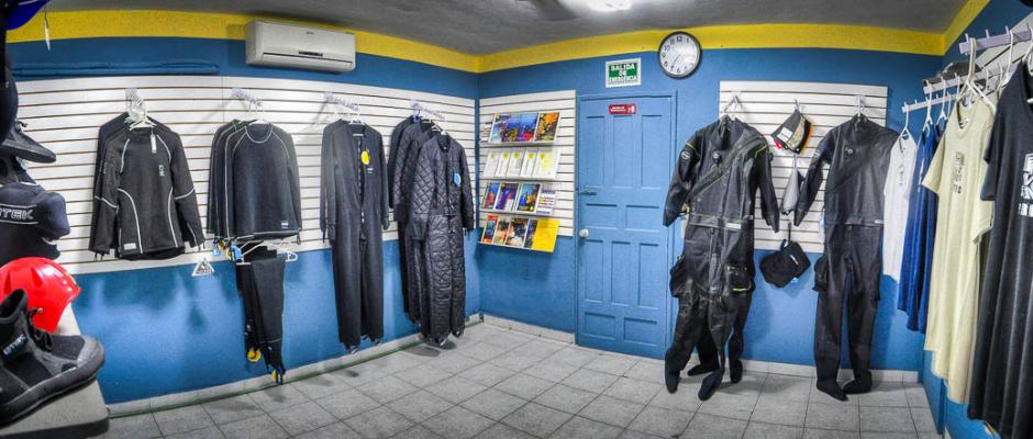 ProTec Dive Center dry suit retail area